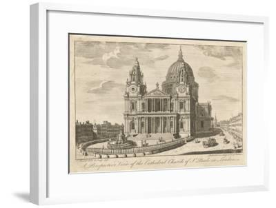 The Cathedral Church of St Paul's in London, in the Mid-18th Century--Framed Giclee Print