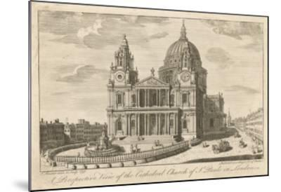 The Cathedral Church of St Paul's in London, in the Mid-18th Century--Mounted Giclee Print