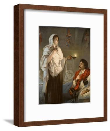 The Lady with the Lamp Florence Nightingale--Framed Giclee Print