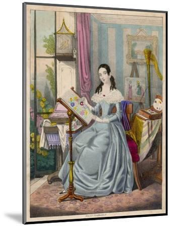 The Industrious Young Lady' - a Victorian Girl and Her Accomplishments--Mounted Giclee Print