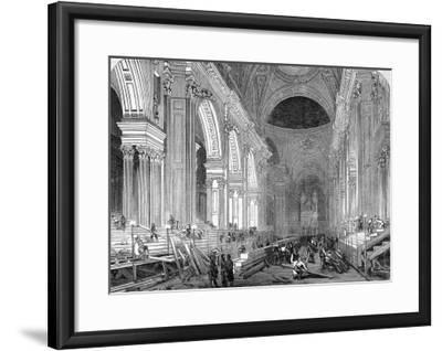 The Nave of St. Paul's Cathedral, London, 1852--Framed Giclee Print