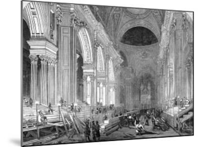 The Nave of St. Paul's Cathedral, London, 1852--Mounted Giclee Print