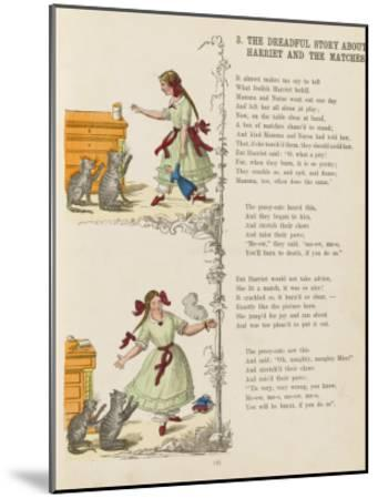 The Dreadful Story About Harriet and the Matches--Mounted Giclee Print