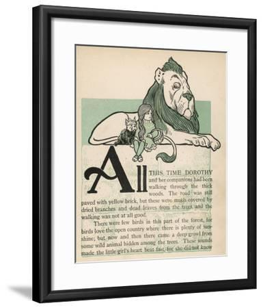 The Cowardly Lion, Dorothy and Toto--Framed Giclee Print