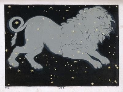 The Constellation of Leo, the Lion--Stretched Canvas Print