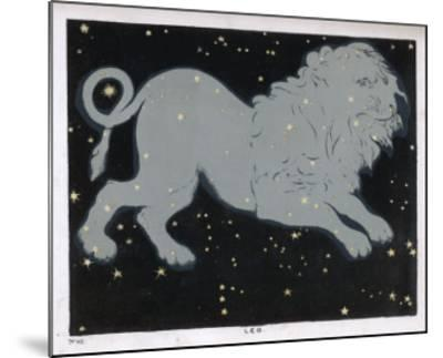 The Constellation of Leo, the Lion--Mounted Giclee Print