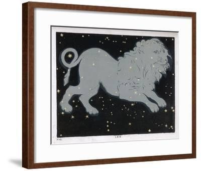 The Constellation of Leo, the Lion--Framed Giclee Print