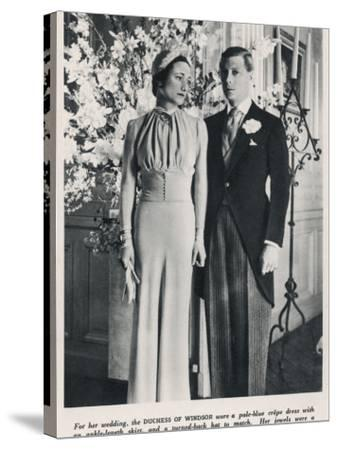 The Duke and Duchess of Windsor--Stretched Canvas Print