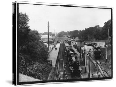 St Austell Station, Cornwall--Stretched Canvas Print