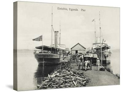 The Pier at Entebbe, Uganda - Lake Victoria--Stretched Canvas Print