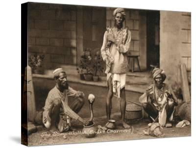 Three Samp Wallahs, or Snake Charmers-Peter Higginbotham-Stretched Canvas Print