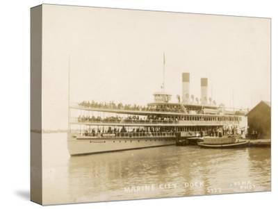 The US Mail Steamer Tashmoo, St. Clair River, Michigan, America--Stretched Canvas Print
