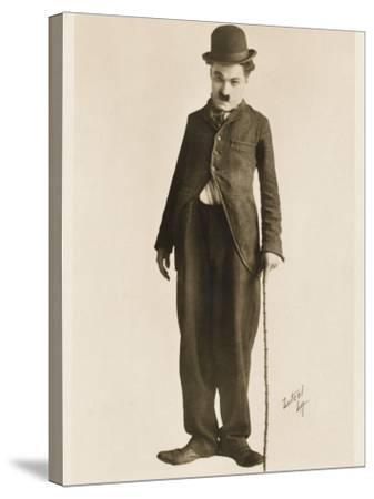 The Movie Legend Charlie Chaplin in Classic Pose--Stretched Canvas Print