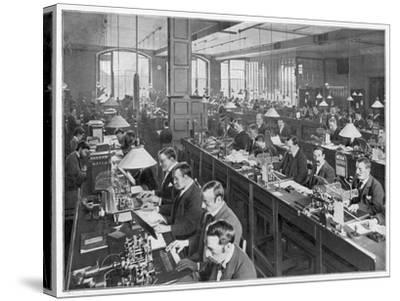 Telegraph Office 1900--Stretched Canvas Print