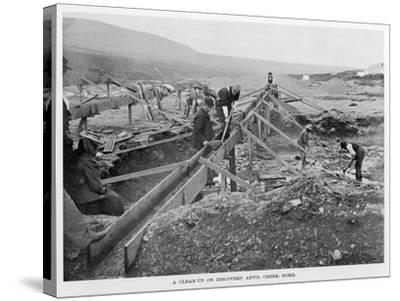 The Discovery Claim at Anvil Creek, Nome, Alaska, During the Gold Rush--Stretched Canvas Print