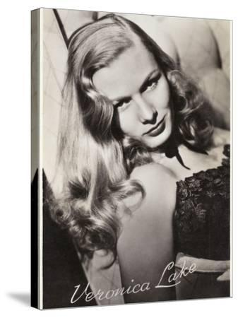 Veronica Lake (Constance Ockleman) American Film Actress--Stretched Canvas Print