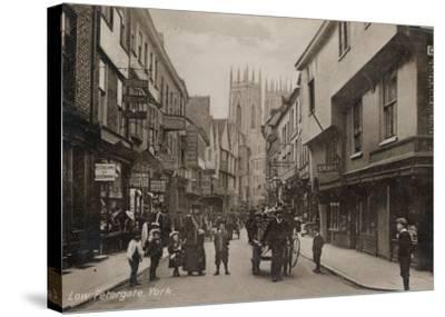 York: Low Petergate--Stretched Canvas Print