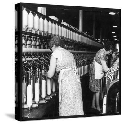Women Working in a Cotton Mill-Henry Grant-Stretched Canvas Print