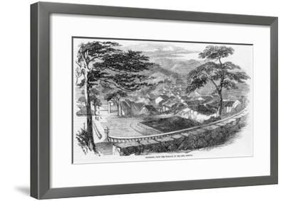 The Town Viewed from the Terrace of the Siwa Temple--Framed Giclee Print