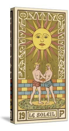 The Sun Depicted on a Tarot Card--Stretched Canvas Print