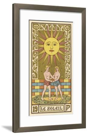 The Sun Depicted on a Tarot Card--Framed Giclee Print