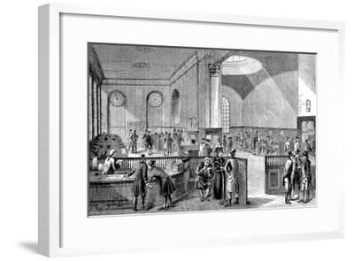 The Subscription Room at Lloyd's of London, 18th Century--Framed Giclee Print