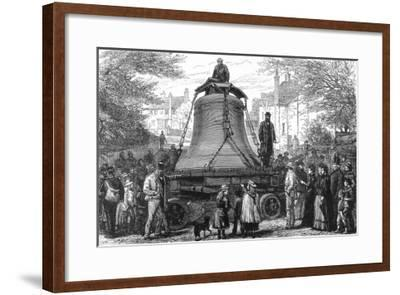 Transporting the Great Bell to St.Paul's Cathedral, 1882--Framed Giclee Print