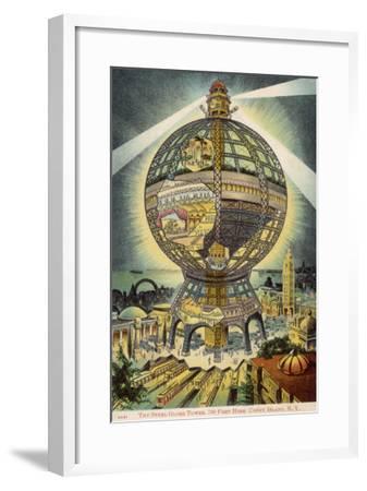 The Steel Globe Tower, 700 Feet High, on Coney Island, New York, America--Framed Giclee Print