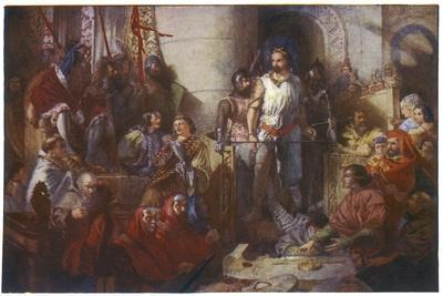Trial of William Wallace--Stretched Canvas Print