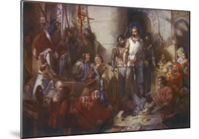 Trial of William Wallace--Mounted Giclee Print