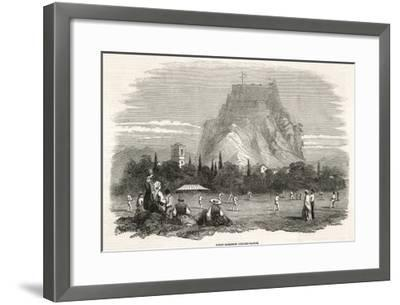 The Soldiers Stationed at the Garrison on Corfu Play a Cricket Match--Framed Giclee Print