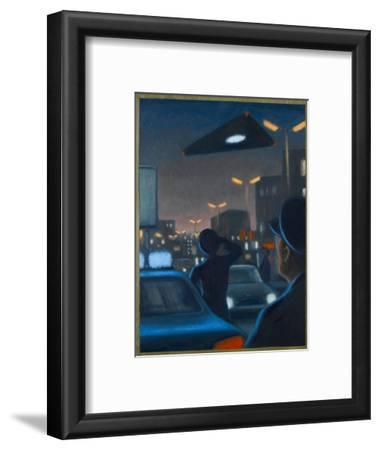 Triangle-Shaped UFO Observed over Brussels-Michael Buhler-Framed Giclee Print
