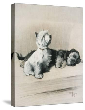 The Two Friends--Stretched Canvas Print