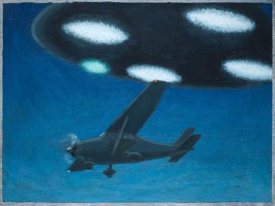 UFO Near Melbourne, Australia-Michael Buhler-Stretched Canvas Print