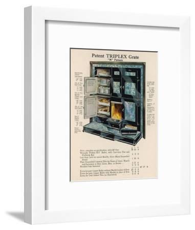 Triplex Grate and Boiler--Framed Giclee Print