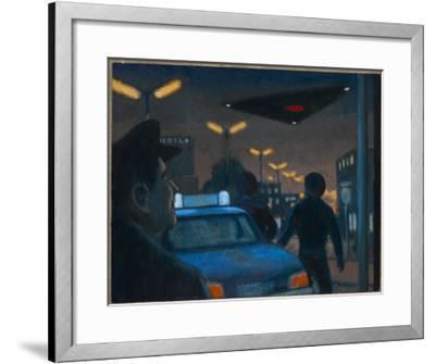 UFO over Brussels-Michael Buhler-Framed Giclee Print
