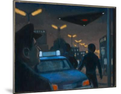 UFO over Brussels-Michael Buhler-Mounted Giclee Print