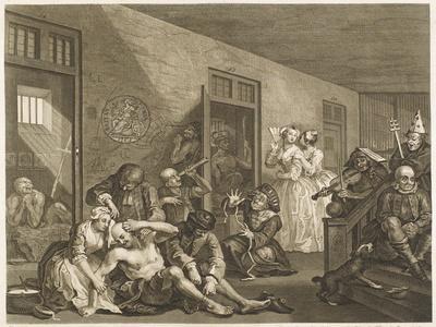 The Rake's Progress, a Scene in Bedlam Asylum--Stretched Canvas Print