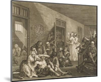 The Rake's Progress, a Scene in Bedlam Asylum--Mounted Giclee Print