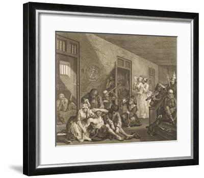 The Rake's Progress, a Scene in Bedlam Asylum--Framed Giclee Print