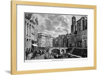 The Oude Gracht (The Old Canal)--Framed Giclee Print