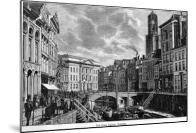 The Oude Gracht (The Old Canal)--Mounted Giclee Print