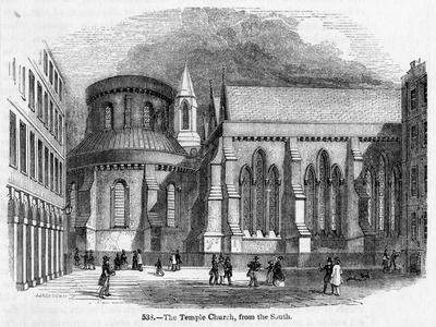 The Temple Church--Stretched Canvas Print