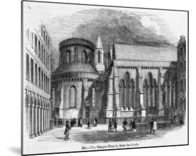 The Temple Church--Mounted Giclee Print