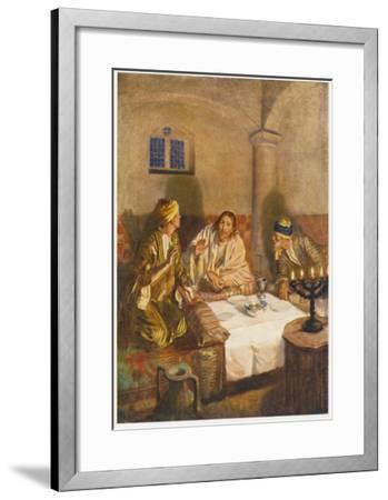 The Risen Jesus with Two of His Disciples at Emmaus--Framed Giclee Print