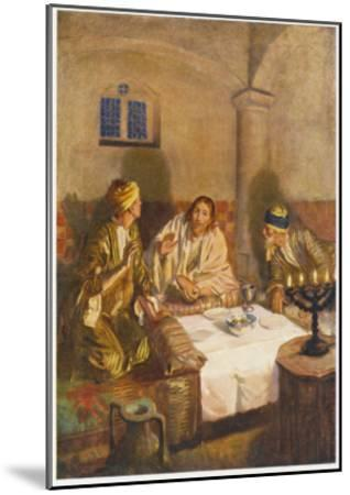 The Risen Jesus with Two of His Disciples at Emmaus--Mounted Giclee Print