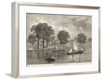 The Thames at Hammersmith Mall--Framed Giclee Print