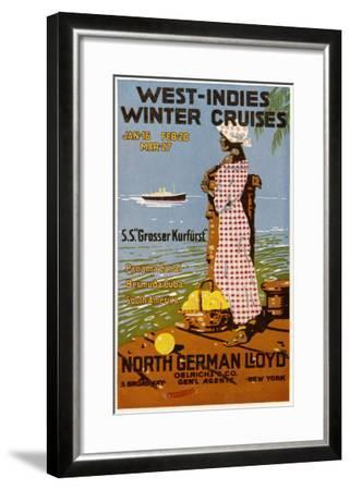 West Indies Poster--Framed Giclee Print