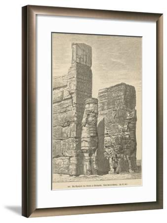 Xerxes Palace, Persepolis--Framed Giclee Print