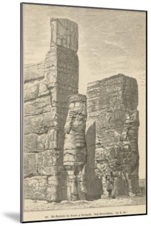 Xerxes Palace, Persepolis--Mounted Giclee Print